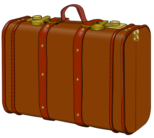 Leather suitcase clipart.