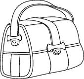 Leather Bag Clip Art.