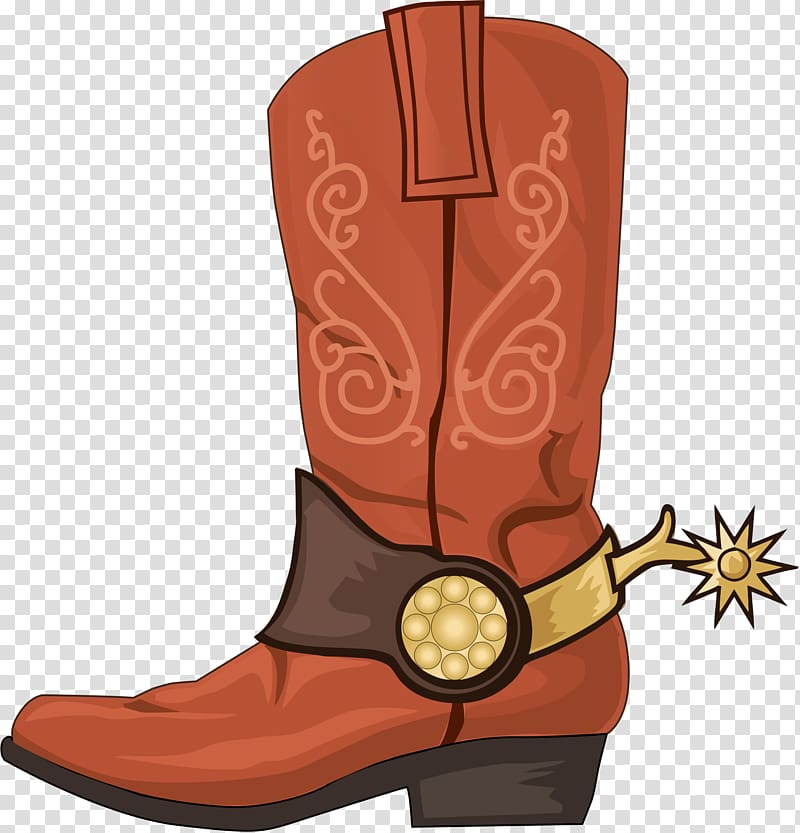 Cowboy boot Bandana Leather, boot transparent background PNG.