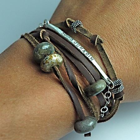 1000+ images about Leather Bracelet Diy on Pinterest.