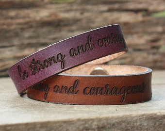 personalized leather bracelet.