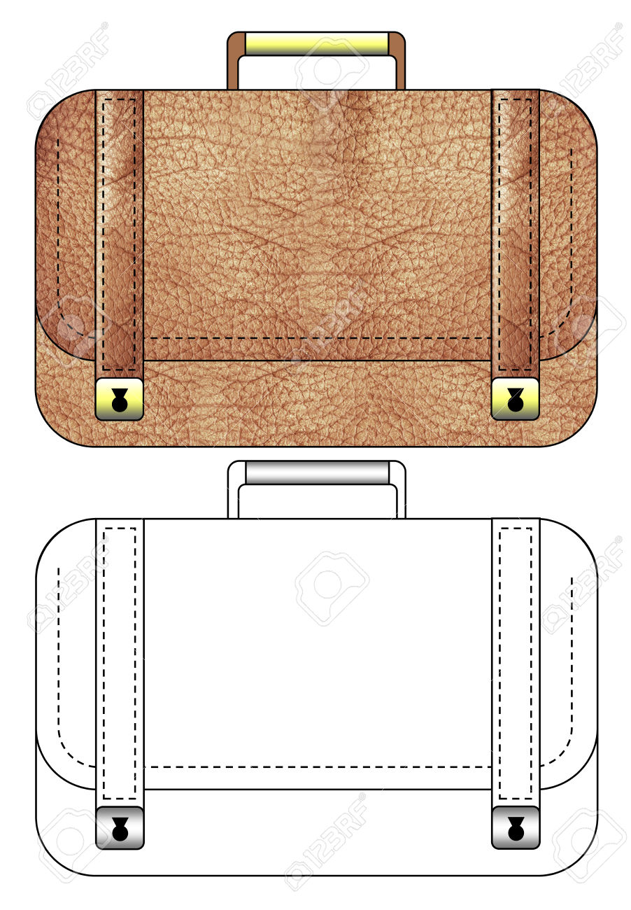 Nice Leather Career Case Clipart Icon Vector Bag Royalty Free.