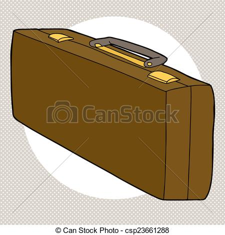 Vector of Long Leather Case.