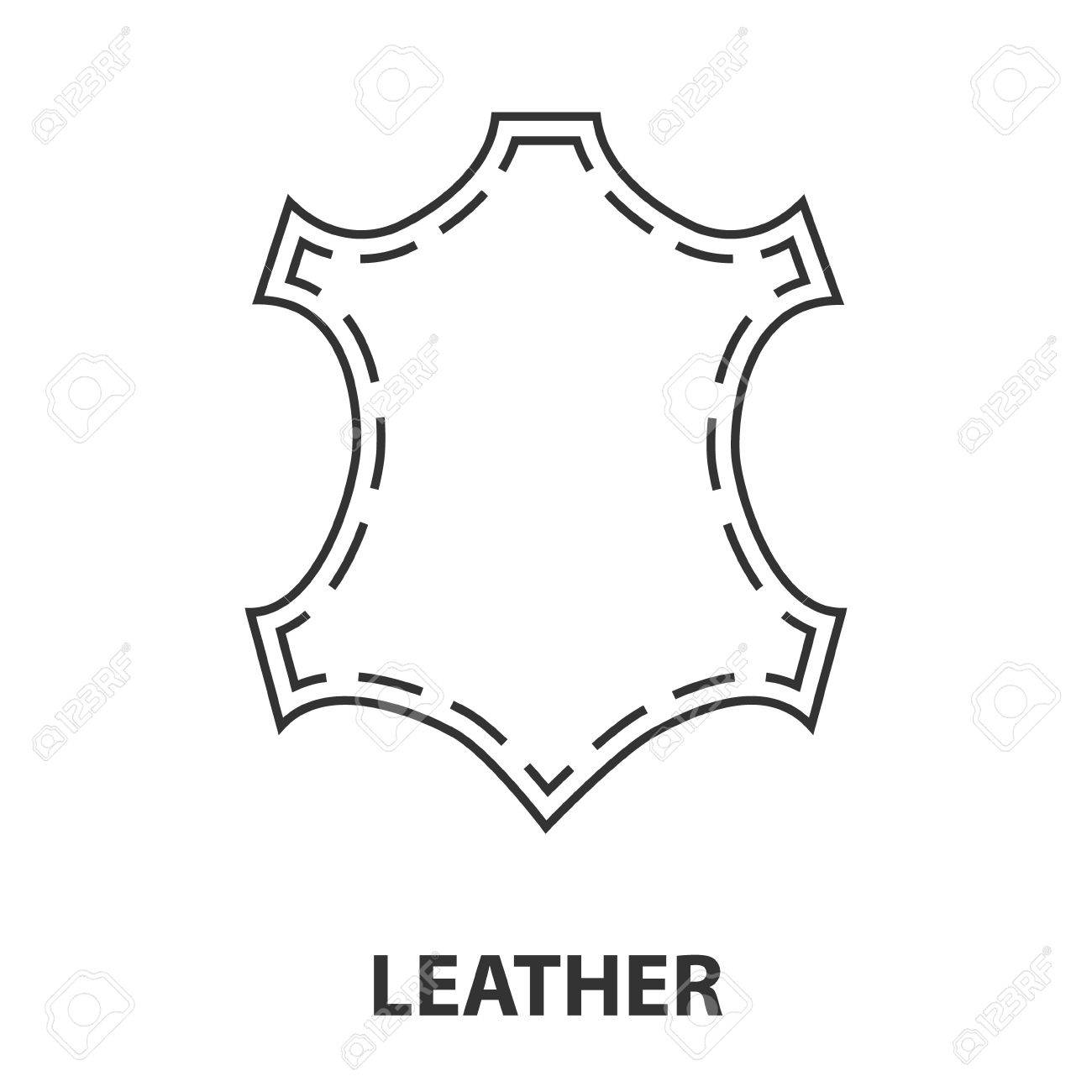 Leather icon or logo line art style. Vector Illustration..