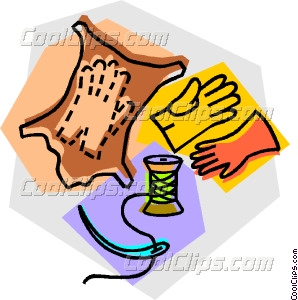 Leather Gloves Clipart.