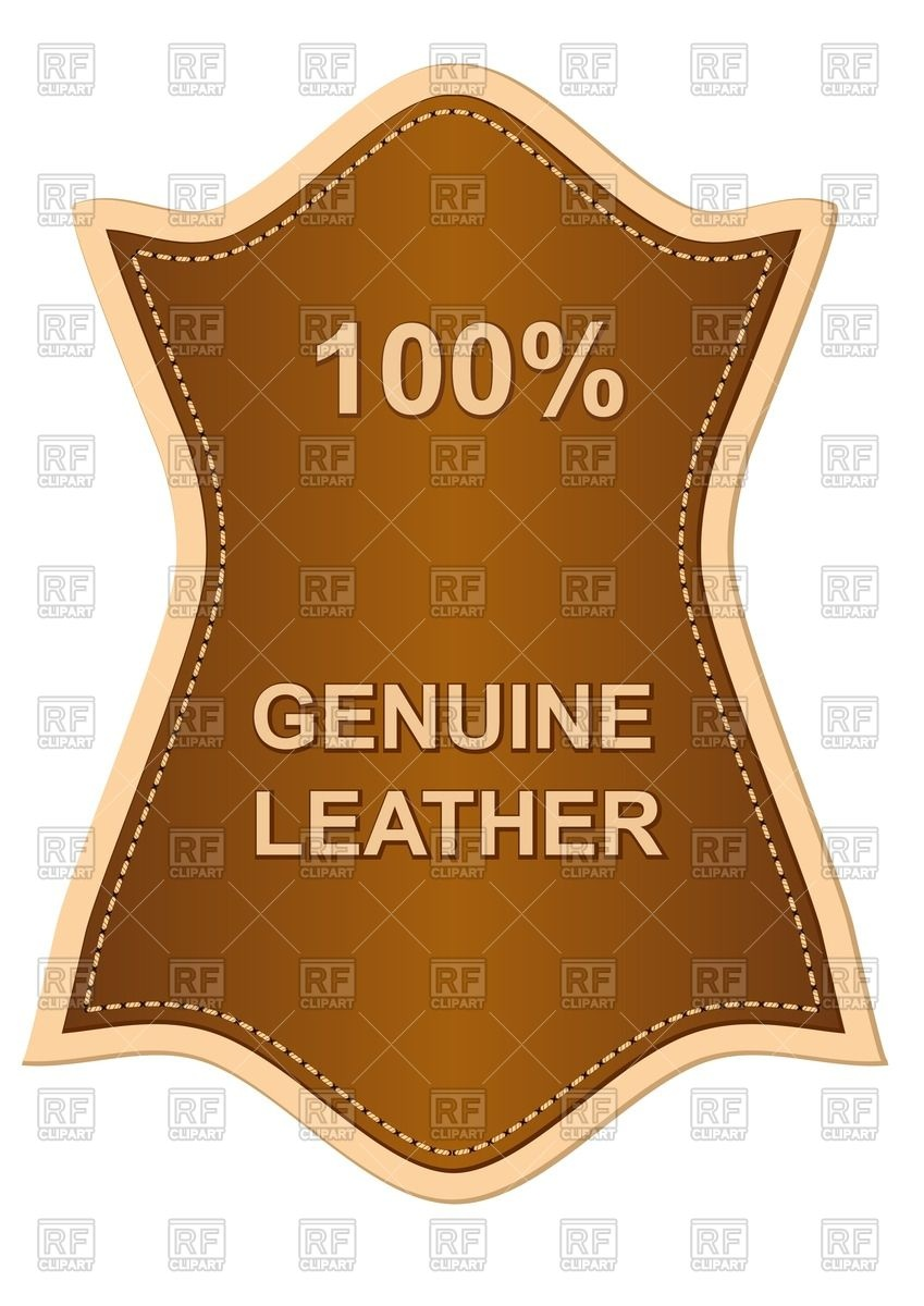Genuine leather label Vector Image #67449.