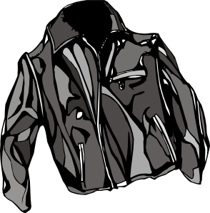 Leather jacket clipart.