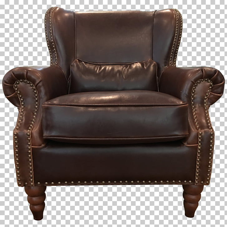 Club chair Loveseat Leather Couch, chair PNG clipart.