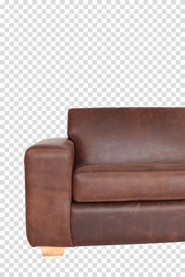 Loveseat Club chair Leather Couch, chair transparent.