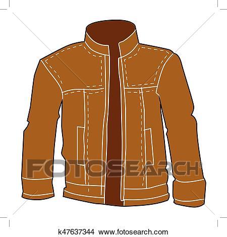 Men leather jacket Clipart.