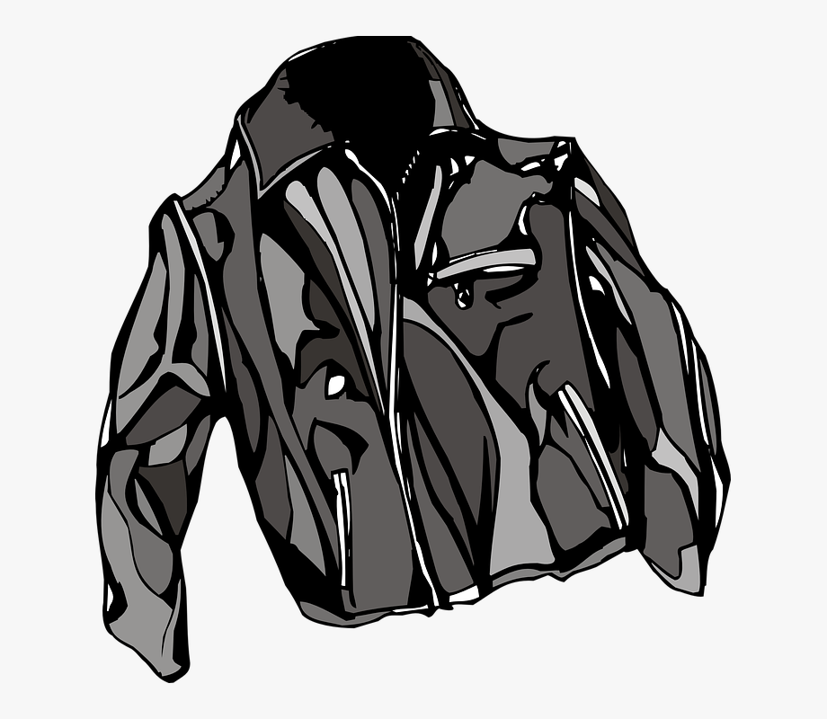 Free Vector Leather Jacket Clip Art.