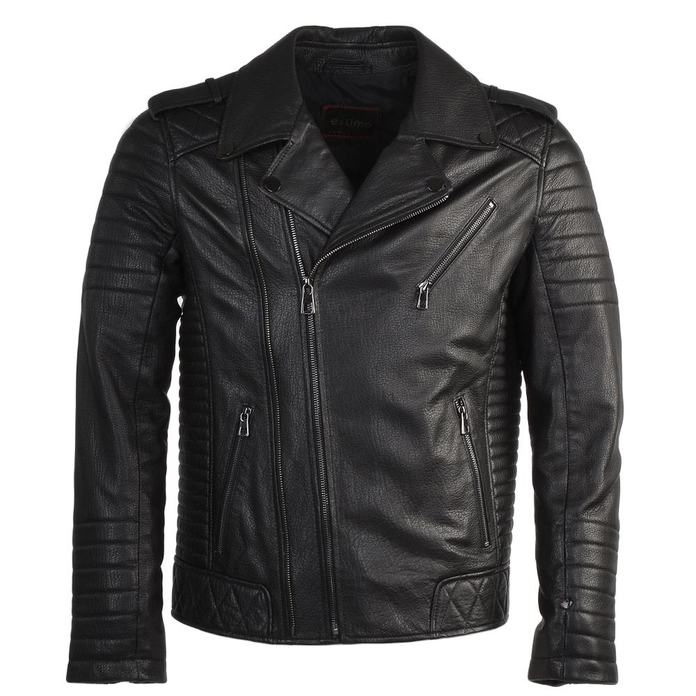 Full Grain Leather Biker Jacket Syh Jumbo Black : Valentino.
