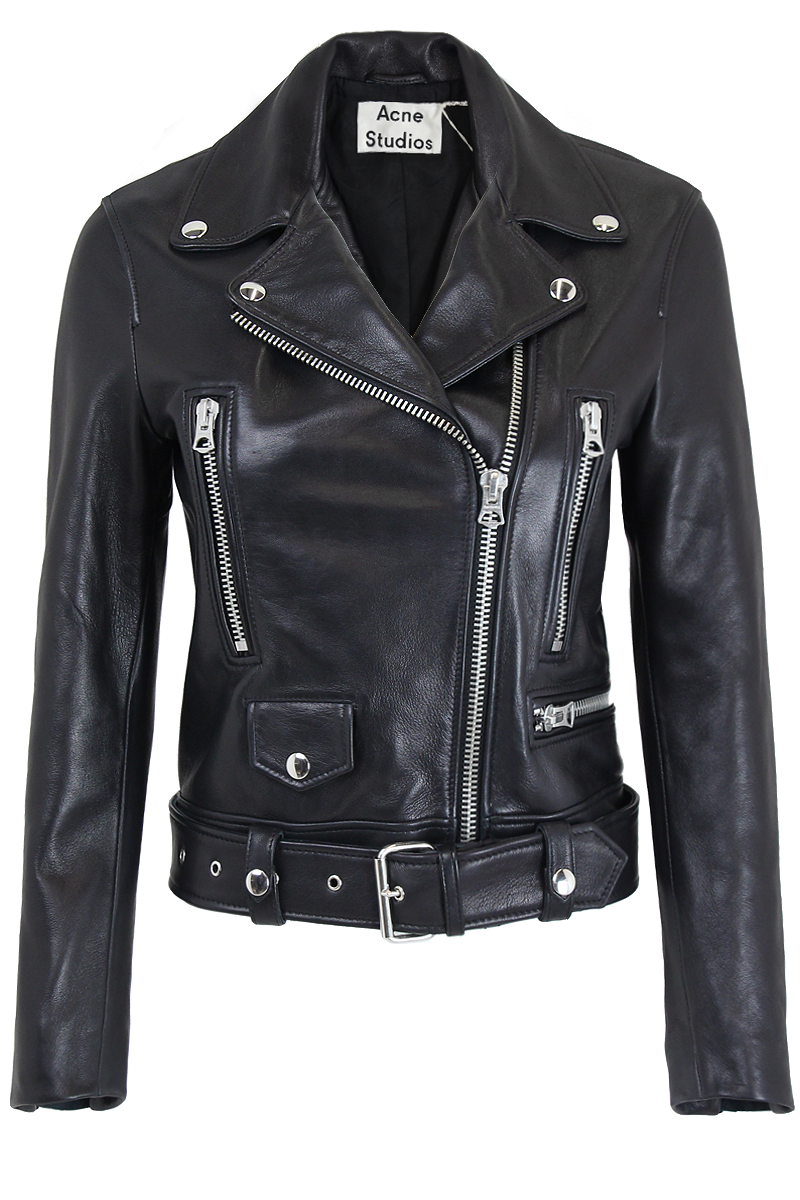 MOCK LEATHER BIKER JACKET.