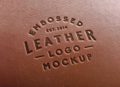 Free Leather Stamping Logo MockUp #2s Clipart and Vector.