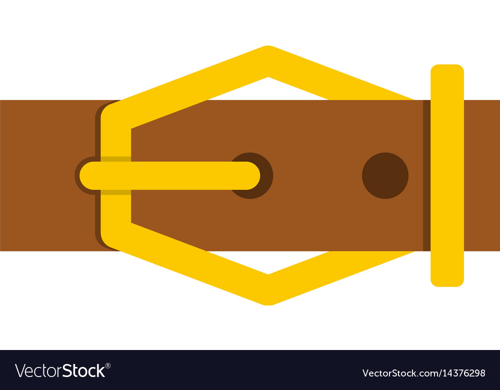 Brown leather belt icon isolated.