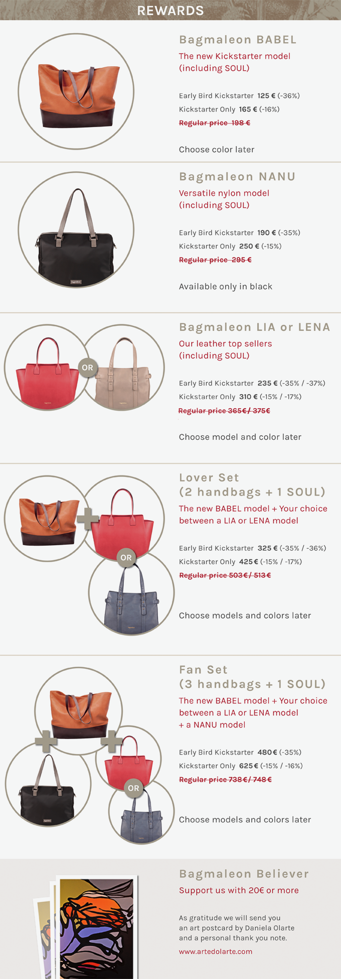 Modular handbags with detachable interior by Bagmaleon — Kickstarter.