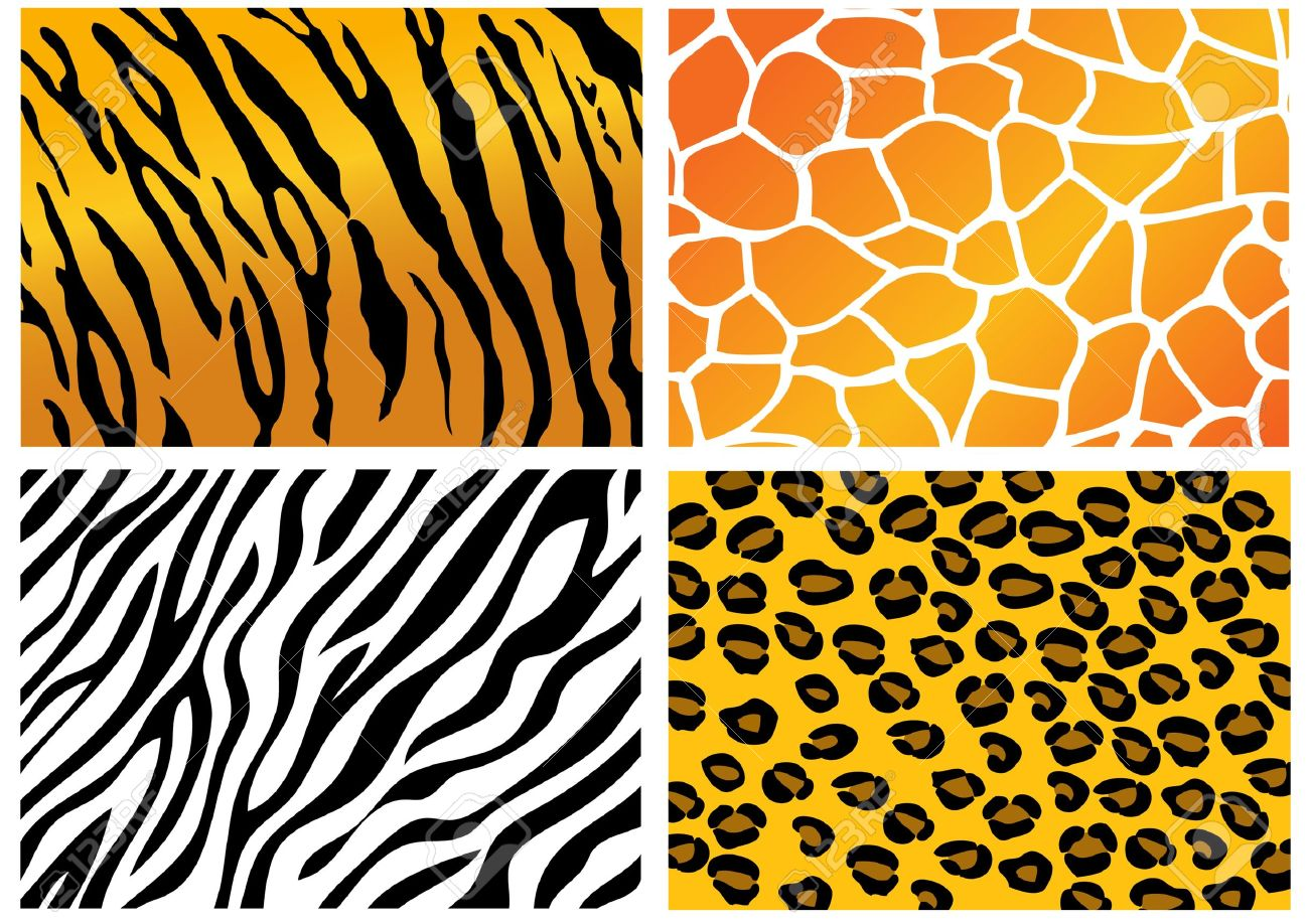 Animal leather clipart.