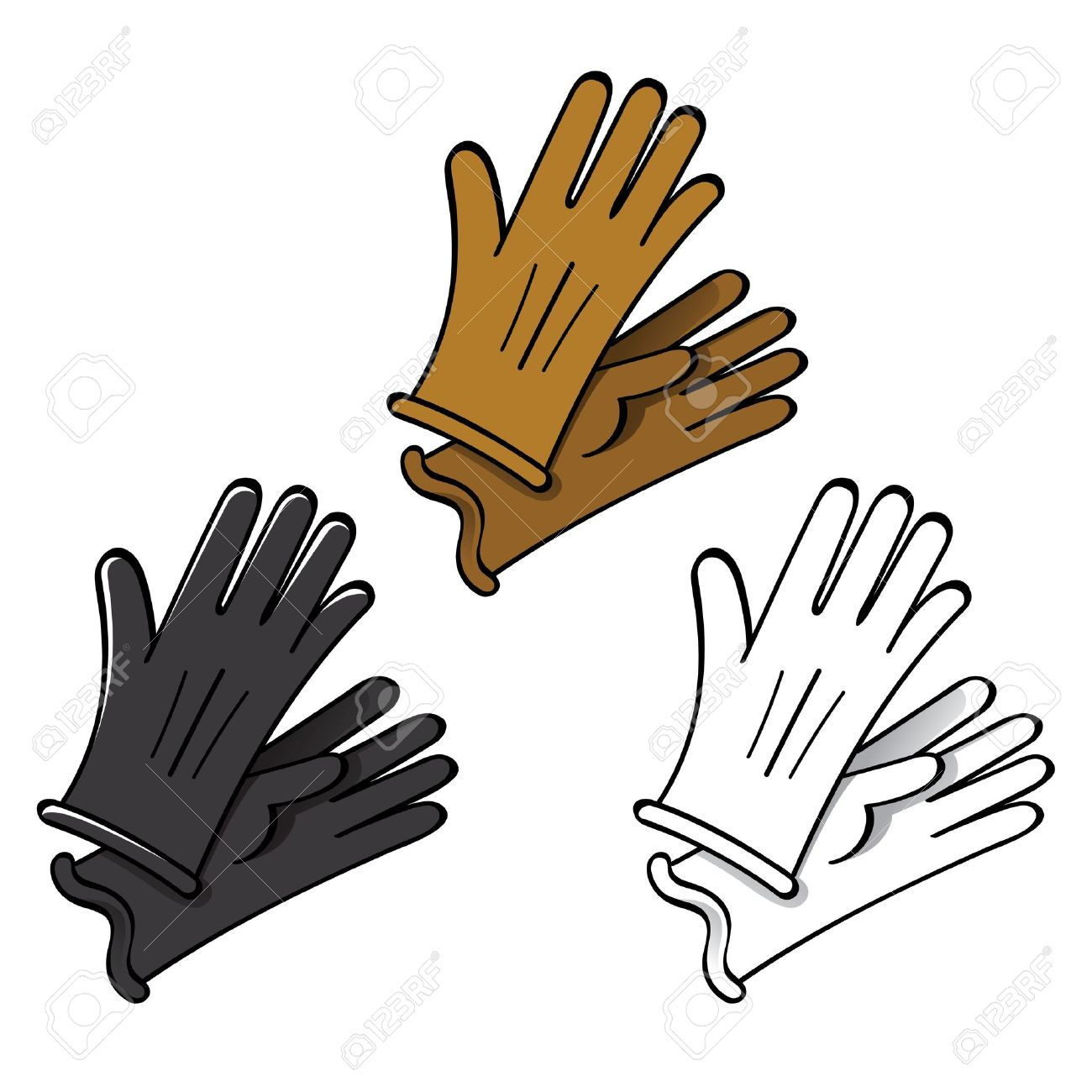 Gloves Leather Fashion Skin Suede Finger Hand Wear Royalty Free.