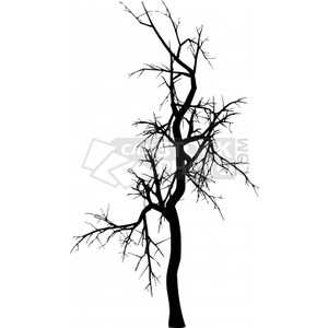 Clipart of Winter tree.