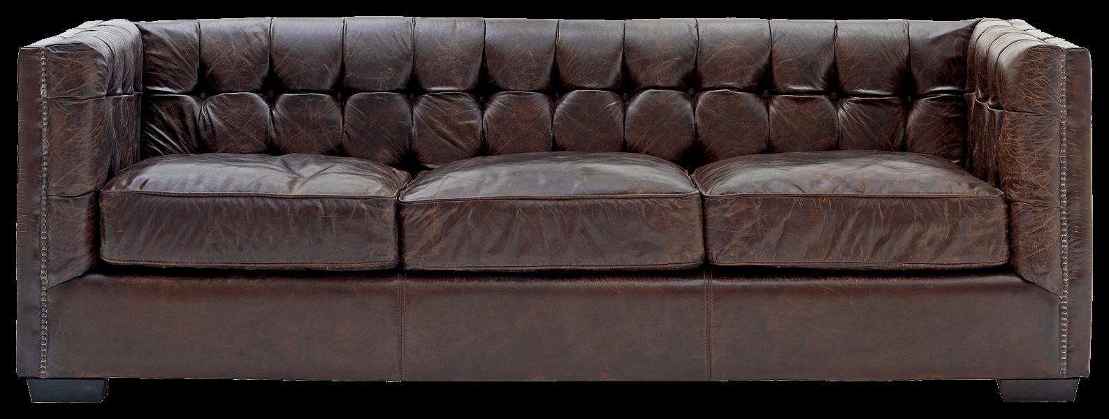 Leather Sofa transparent PNG.