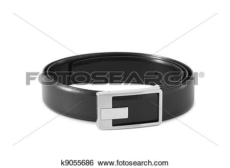 Stock Images of men's black leather strap k9055686.