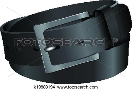 Clipart of Black leather strap k19880194.