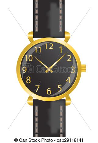 EPS Vector of wristwatch.