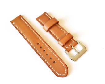Leather watch strap.
