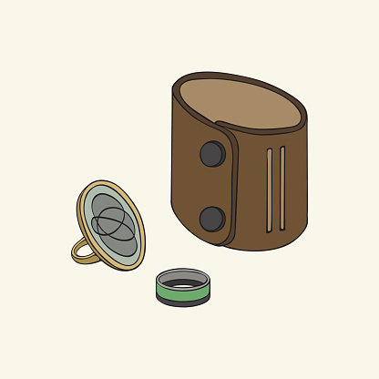 Brown Leather Wristband Clip Art, Vector Images & Illustrations.