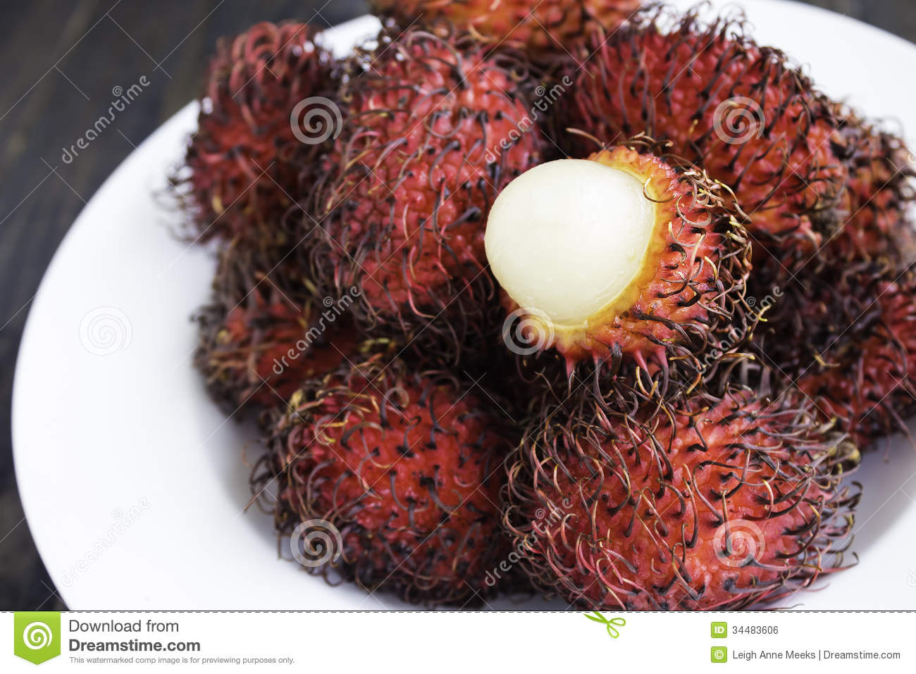 Rambutan Royalty Free Stock Image.