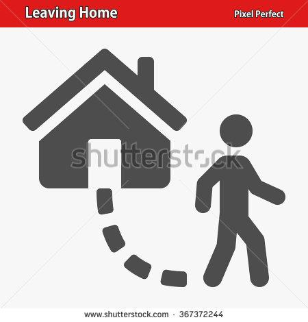 To leave the house clipart.