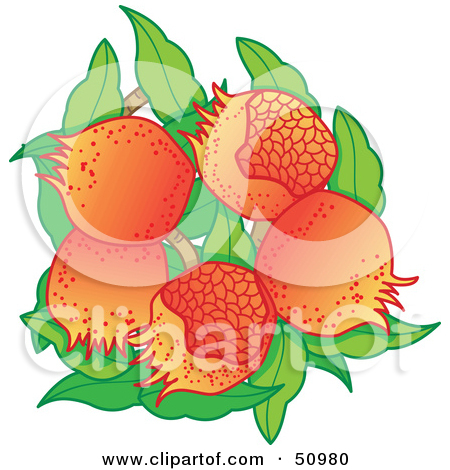 Clipart of a Rosh Hashanah Pomegranate Fruits.
