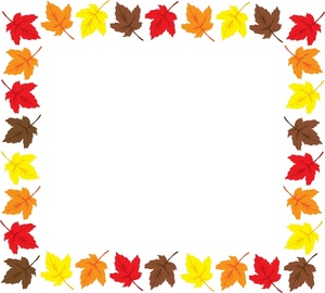 Fall Borders Clipart.