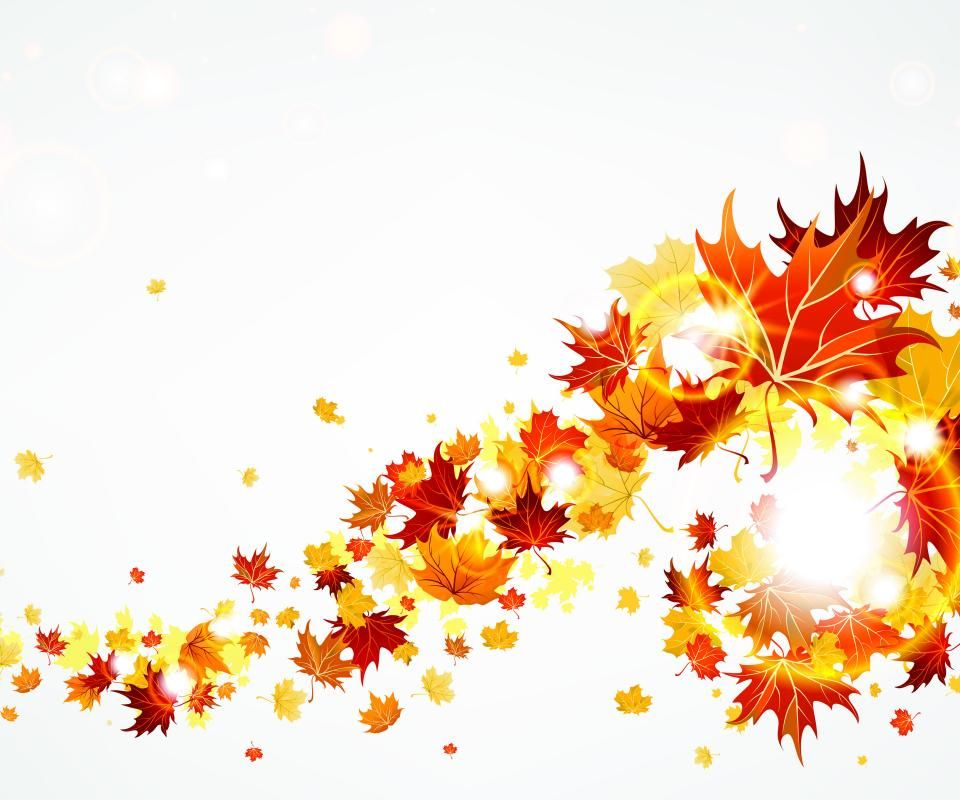 autumn leaves blowing in the wind.