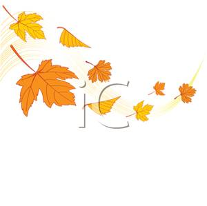 Leaves In The Wind Clipart.