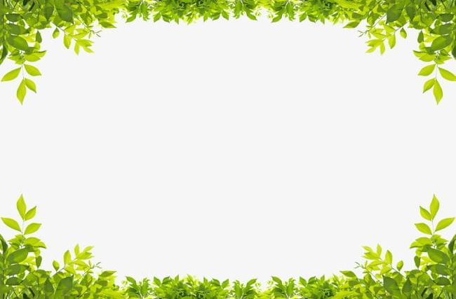Green Leaves Border PNG, Clipart, Border Clipart, Down.