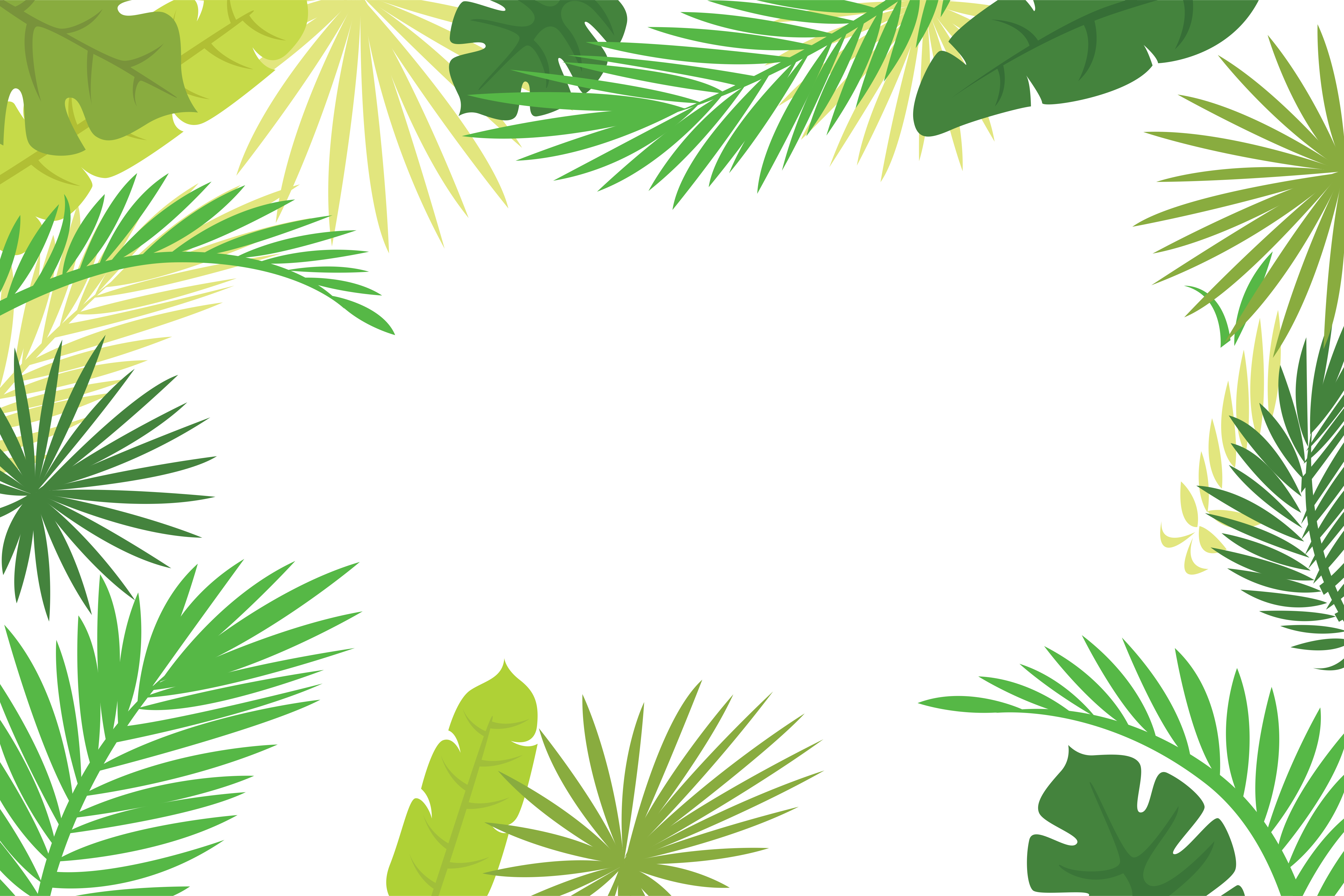 Palm leaves border clipart images gallery for free download.