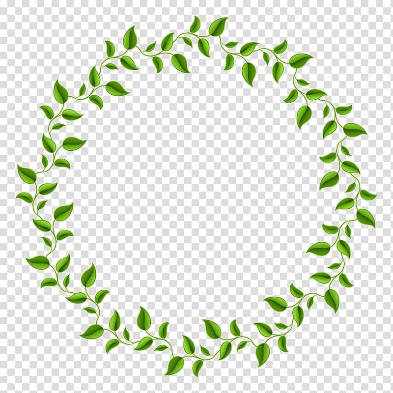Green leaf frame, Leaf Green Circle frame, Green leaves.