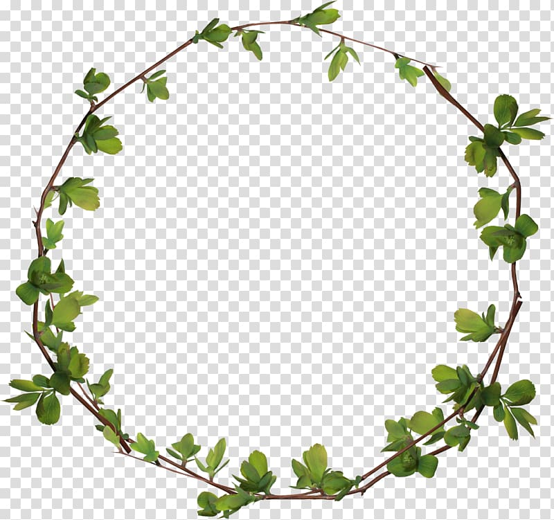 Leaf wreath illustration, Circle , Leaves ring transparent.