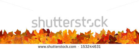 Autumn Leaves Border Stock Photos, Royalty.