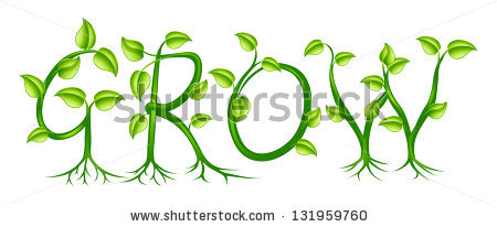 Word Grow Spelled Out Plant Vines Stock Vector 131959760.