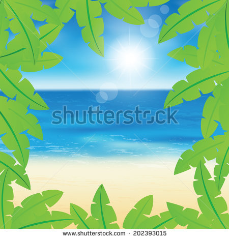 Beautiful Seaside View On Sunny Day Stock Vector 105765350.