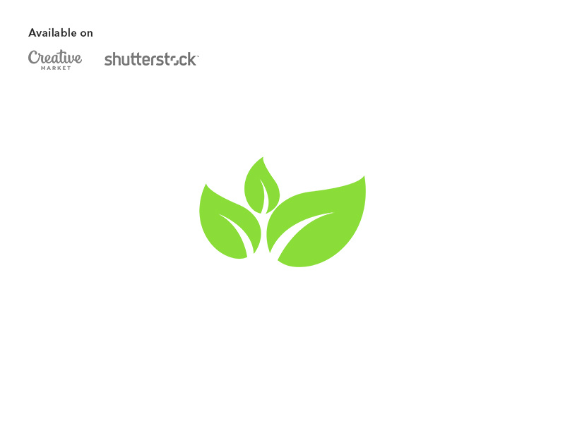 Leaves logo design by emwaiem on Dribbble.