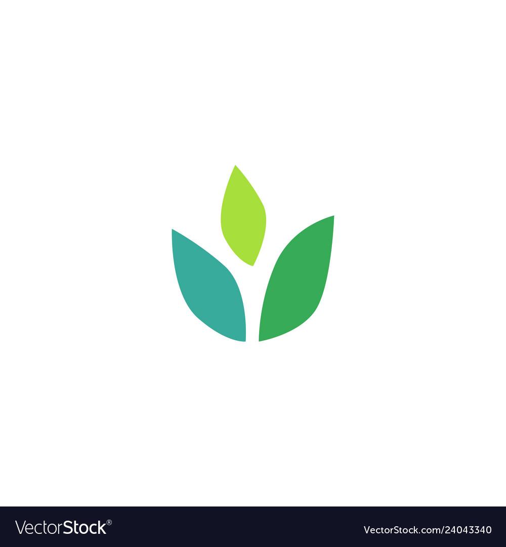 Three leaves leaf logo icon design inspiration.