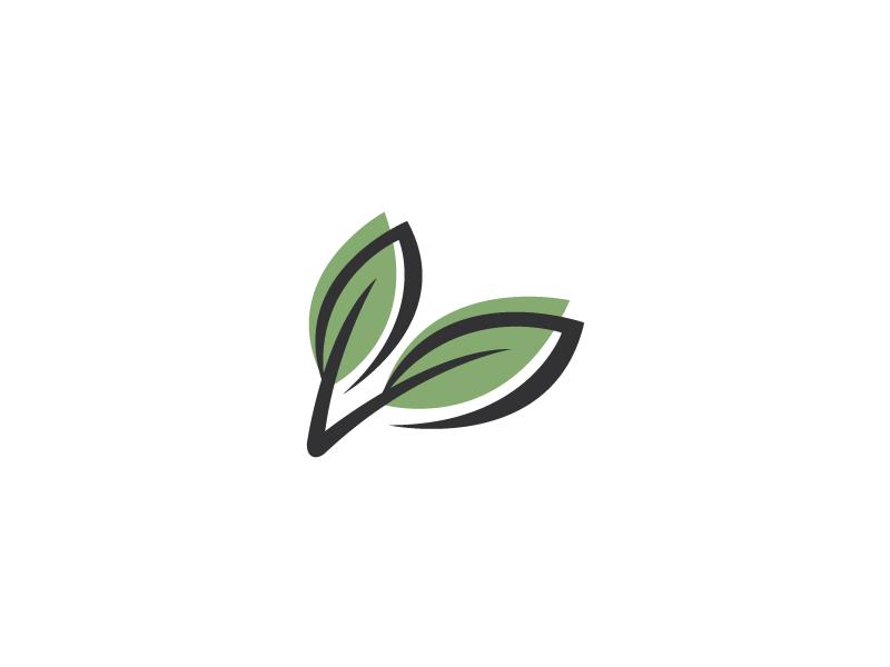 Duo Leaves Logo Template by Heavtryq on Dribbble.