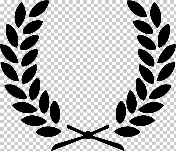 Laurel wreath Olive wreath , corona, black leaf logo PNG.