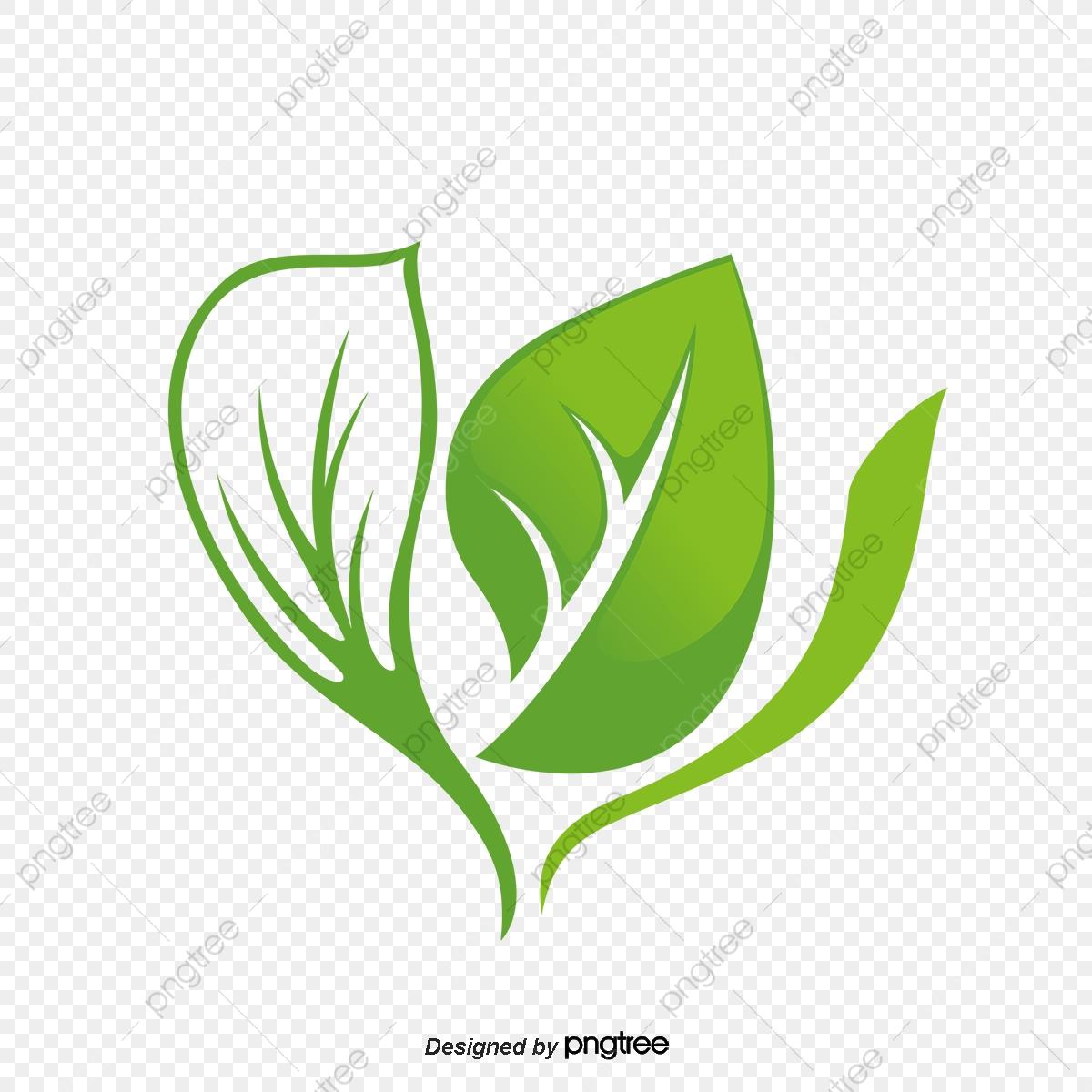 Green Leaf Logo Design, Green Leaves, Green Leaves, Logo PNG.