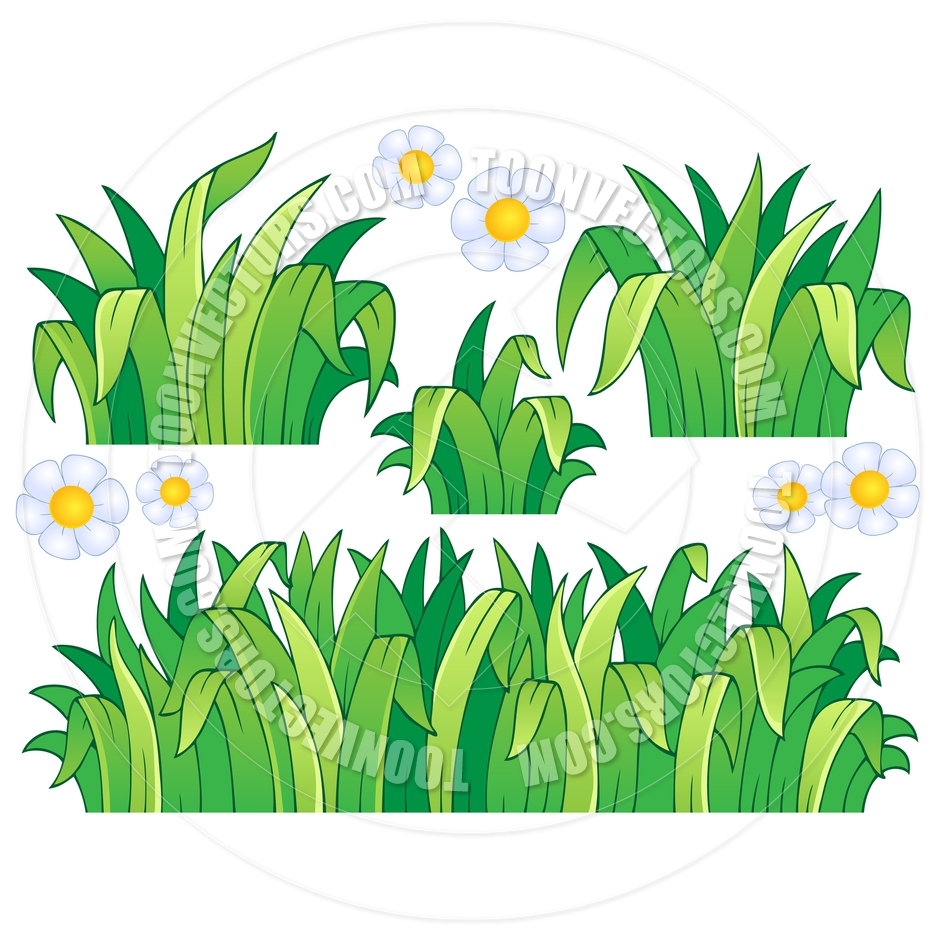 Cartoon Leaves and Grass Theme Image by clairev.