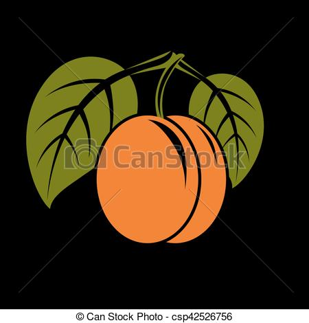 Clipart Vector of Vegetarian organic food simple illustration.