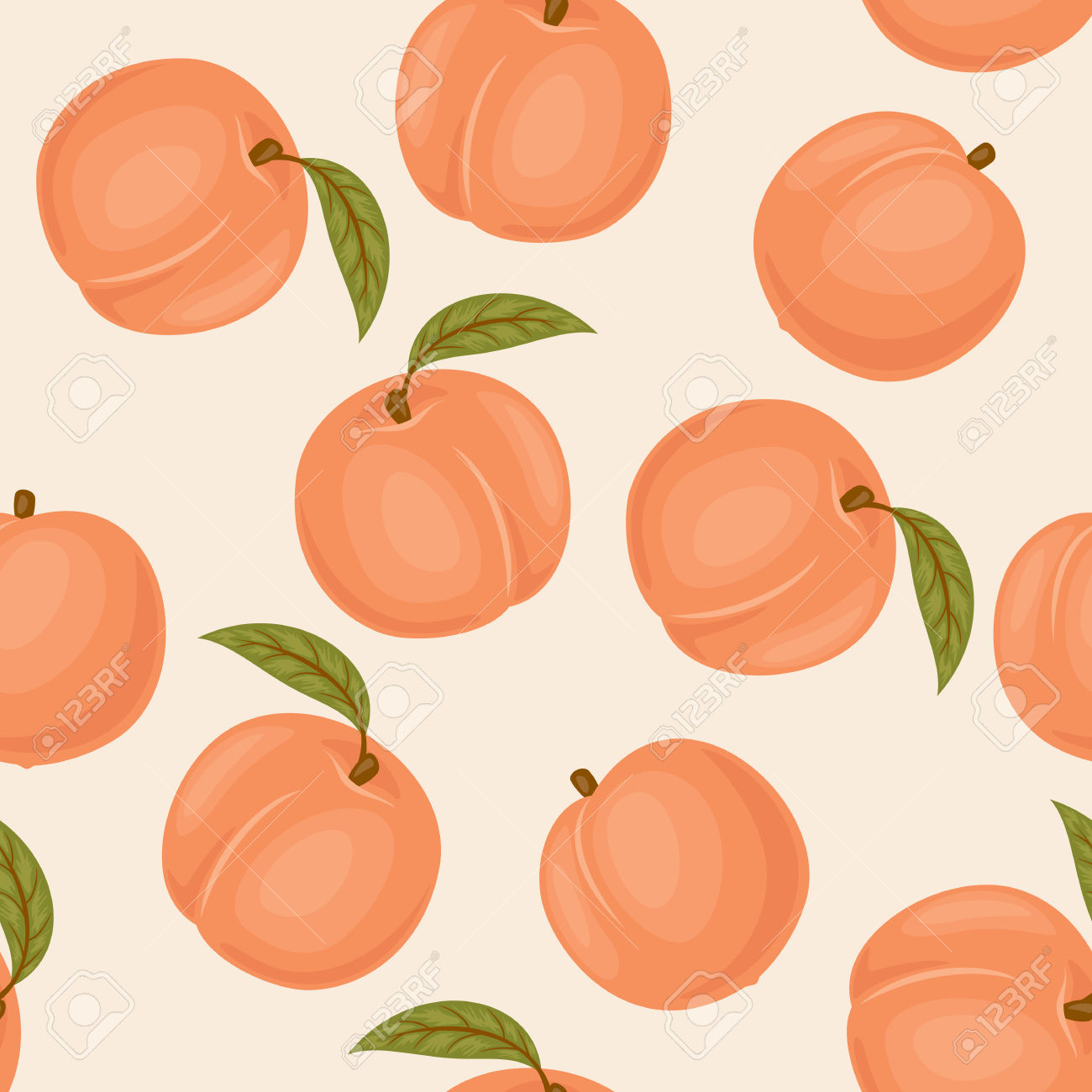 Leaves of peach clipart - Clipground